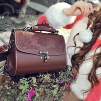 Hot Sale Women's Handbag Spring Lacquer Vintage Bag Carved Box Shoulder Bag Casual Bag Free Shipping