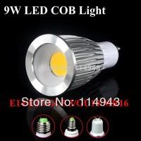 10pcs plane mirror 5W 7W 9W GU10 COB Led Spot Light Spotlight Bulb Lamp High Power Lamps AC85-265V 3 Years Warranty
