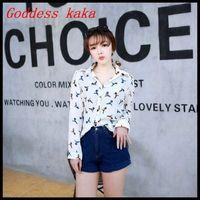 Fashion New 2014 Women Blouses Casual Animal Printed Chiffon Blouse Tops Autumn-Summer Dot/Heart Sale Shirt Free shipping B005