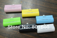 3000mAh External Battery Pack / Portable Battery Charger for apple iphone 5 5C 5S, 6 Colors Available