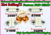 TOP New&Universal 5050 8smd LED Car Lamp 31mm 36mm 39mm 41mm Festoon Reading/License Plate/Roof Lamps lights White DC12 Freeship