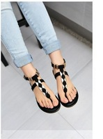 2014 Flat Heel Women's Sandals 2014 Summer Women Summer Shoes  Fashion Sandals Sweet Free Shipping tx23us size4.5-8