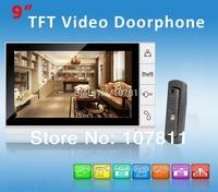 2014 Luxury 9 Inch Color LCD Monitor Video Door Phone 700TVL HD  IR Camera