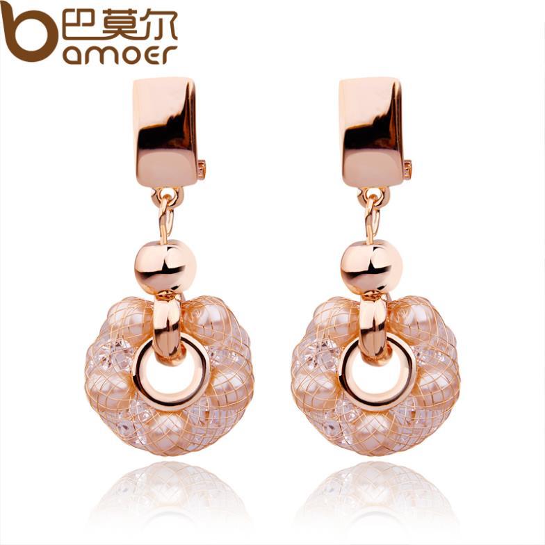 Серьги висячие Bamoer 18K JSE041 Dangle earrings электролобзик кратон jse 800 80