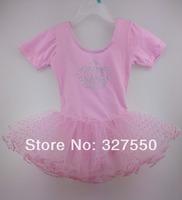 Retail ! Free Shipping Girl Bow Leotard Ballet Tutu Dance Costume  Dance Diamond Crown Baby Girls Sexy Dress HY-2039