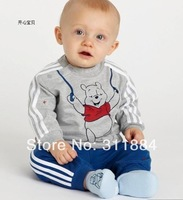1Set Suit Cotton Baby Brand Sports Sets Bear Cartoon Clothing Sets Children/ Kids Long Sleeve T-shirt+Pant Outfits Autumn Spring