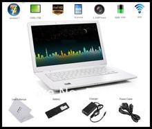 Free DHL shipping 13.3 inch brand stock laptop computers with Webcam wifi windows 7 multi langauge intel atom laptop