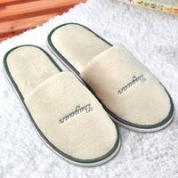 Beige super soft slippers super platform disposable slippers at home
