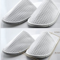 Waffle 100% cotton towel slippers at home floor slippers disposable