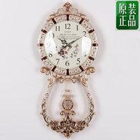 Fashion rustic swing wall clock mute metal watch iron modern fashion quartz clock