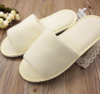 Disposable slippers at home anti-slip soles thickening autumn and winter polar fleece fabric