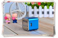 FREE SHIPPING! Mini  Digital Speaker  Micro SD TF Card FM Radio  MP3 Player USB Disk