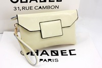 New Sales Items Ladies Clutches White Black Two Colors for Choice Cowhide Genuine Leather Small Shoulder Bag Crossbody Bags