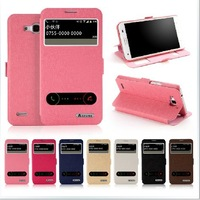 New Arrival Huawei Honor 3X case, ASZUNE Open-windows series Leather flip Cover case for Huawei Honor 3X !HY002