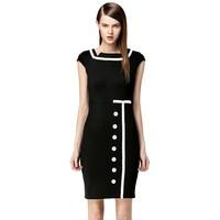 New 2014 Summer Women Elegant Classic Vintage Rockabilly Bodycon Pencil Dress Knee Length Work Wear Business Party Casual Dress