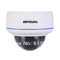 ZONEWAY 2.0 Megapixel 1080p CMOS Outdoor ONVIF IP Dome Camera with Free DDNS Plug and Play Free Shipping