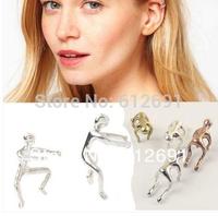 Fashion Doll ear clips piercing ear cuffs personality earring charms tassel jewelry vintage earrings LM-C097