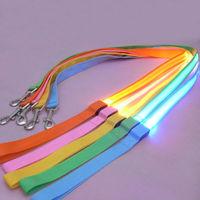 LED Flashing Pet Leash Rope Belt Dog Harness Safety Lead Light dog collar drop shipping & free shipping SL00164