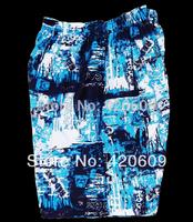Free Shipping 2014 Fashion Swimsuit Print Men Board Shorts Plus Size Hawaiian Surf Beach Shorts Shining Clothing