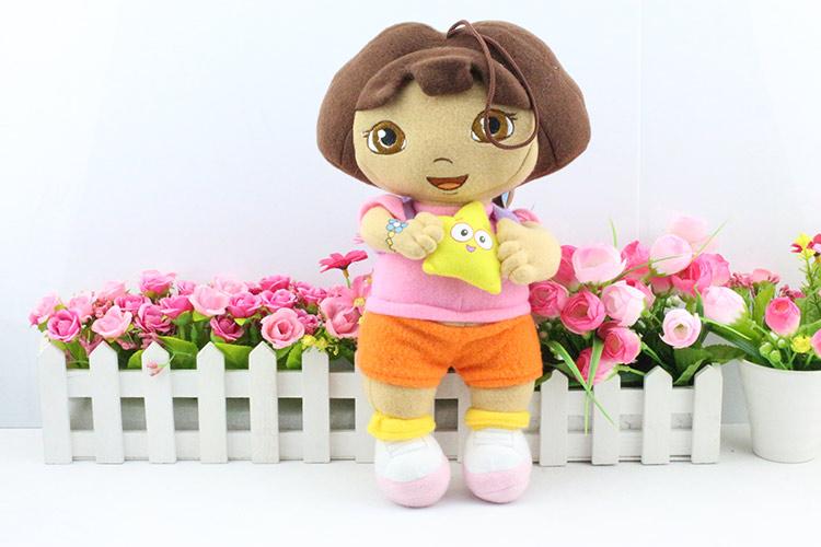 Reail 1PCS dora with star Dora the Explorer plush boots plush Monkey plush Swiper Fox Plush(China (Mainland))