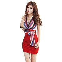 New 2014 Fashion elegant women's normic V-neck strapless sexy tight-fitting hip slim one-piece dress summer Bodycon Body con