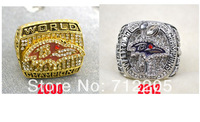 Free shipping fashion 2pcs replica NFL 2000 2012 Super Bowl Baltimore Ravens championship ring
