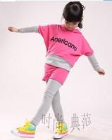 Girls clothing set girls sportwear kid's clothes children's suit C66