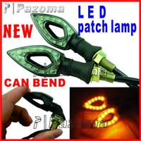 Pazoma  Motorcycle SMD LED Turn Signals lights indicator Amber Blinker For Kawasaki Ninja 250 300 R