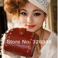 2014 Fashion restore rivet lady's bag shoulder Bags Hand bag messenger bag women wholesale price