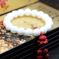 A214,Top quality,fashion new 10mm natural white giant clam bead lotus flower women girl bracelet ,lover jewelry,free shipping