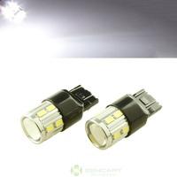 16 SMD 5730 LED 5W 7443 W3X16Q Bulb Turn Signal Corner Light Lamp White 12~18V Turn signal     Reverse light
