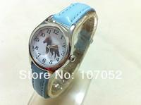 Children Leather auspicious Pony Cartoon Pattern Quartz Analog Watches Wristwatch Cartoon Analog Quartz Watch