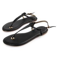Bananarepubli pinch flat sandals genuine leather flat heel sandals fashion flip-flop sandals