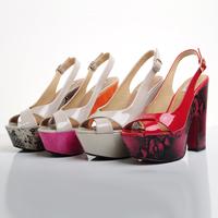 Short in size platform open toe high-heeled sandals female nude color platform gladiator style sandals female