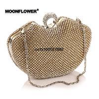 Free shipping 2014 new hot handbags apple-shaped diamond dress fashion clutch evening bag in hand wild Ms. Europe