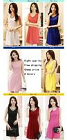 Free shipping 2014 spring one-piece dress 5 plus sizes clothing summer sleeveless tank dress one-piece dress Female basic Dress