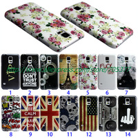 UK US flag Flower owl vip Eiffe hard phone cover case for Samsung Galaxy s5 case Galaxy s5 cover Samsung S5 i9600 G900 case 1pc
