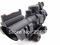 Free Shipping Hunting 4X32mm Tactical Optical Fiber Red/Green/Blue Dot Sight Scope for 20mm Rails Gun