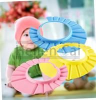 1 Pcs High QualityBaby Child Kid Shampoo Bath Shower Wash Hair Shield Hat Cap Yellow / Pink / Blue  Hot New