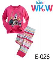 Girls The Frozen Friend Pajamas Sets Kids Autumn -Summer Clothing Set New 2014 Wholesale Children Casual Pyjamas E-026