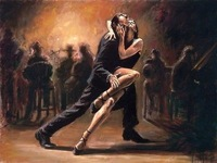 Large canvas Modern hand-draw Art Oil Painting: TANGO Wall Art Decor 033