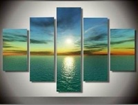New !! 5pc MODERN ABSTRACT HUGE WALL ART OIL PAINTING ON CANVAS (No Frame)