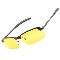 New Arrival Polarized Night Vision Goggles Sunglasses Driving Glasses form men Anti-vertigo Grey/Black Frame UV 400  Protection