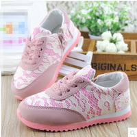 2014 spring fresh lace gentlewomen the trend of sport shoes skateboarding shoes child single shoes female princess single shoes