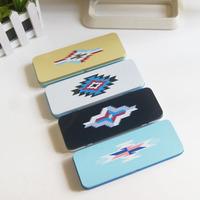 Korea stationery series tin eye case /sundries storage box iron storage box