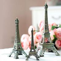 HOT! 3pcs/lot Best Group 13cm+15cm+18cm Antique Brozen Color Eiffel Tower Metallic Model Gift Home Decoration Metal Craft M1213