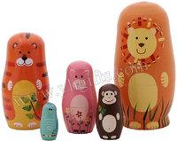 1SET/LOT,Wildlife matryoshka Doll,Ethnic Dolls,Fashion doll,Russian doll,Home decoration,Birthday gifts,Christmas ornament.Gift