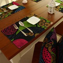 Derlook 100% cotton canvas placemat cloth anti-hot pad dining table mat customize(China (Mainland))