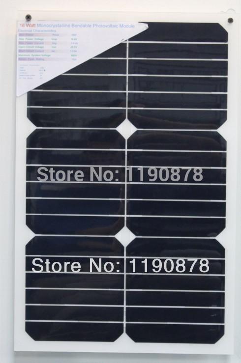 High Quality Flexible Solar Panel 18w,Folding Flexible Amorphous Silicon Solar Panel 18w(China (Mainland))