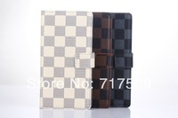 High quality Plaid leather wallet flip case cover for Sony Xperia Z2